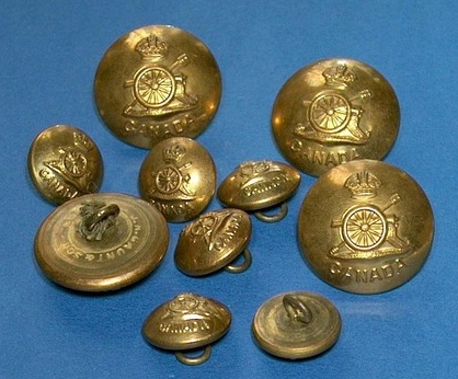 Royal Canadian artillery tunic buttons