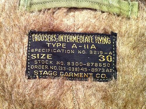 Garage Sale Find: WW2 USAAF fur flying pants/trousers