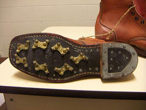 WW2 Australian jungle cleated service boots