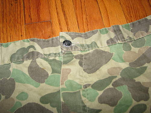 WWII HBT 2nd pattern camo trousers