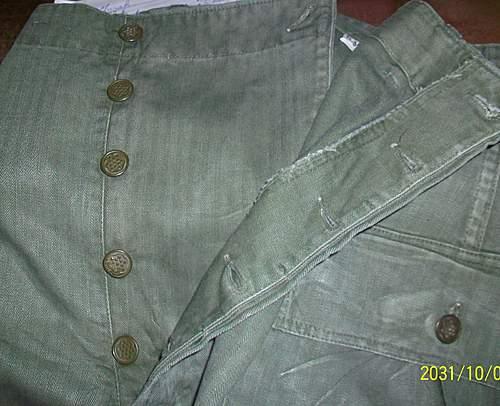 ww2 US HBT Trousers