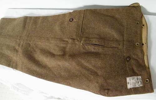 40 pattern BD trousers.