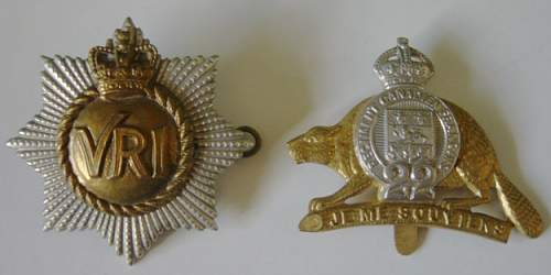 Click image for larger version.  Name:Canadian Cap badges.jpg Views:93 Size:176.3 KB ID:399239