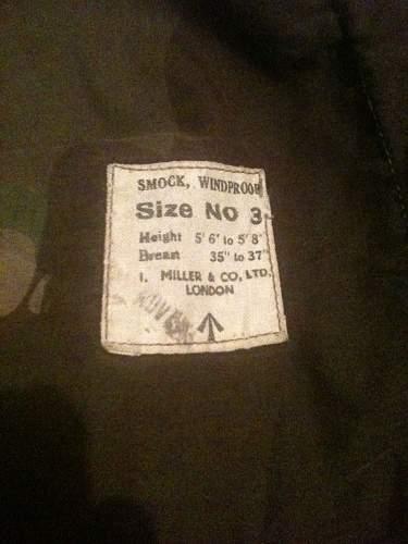 Postwar British Windproof Smock or SAS?