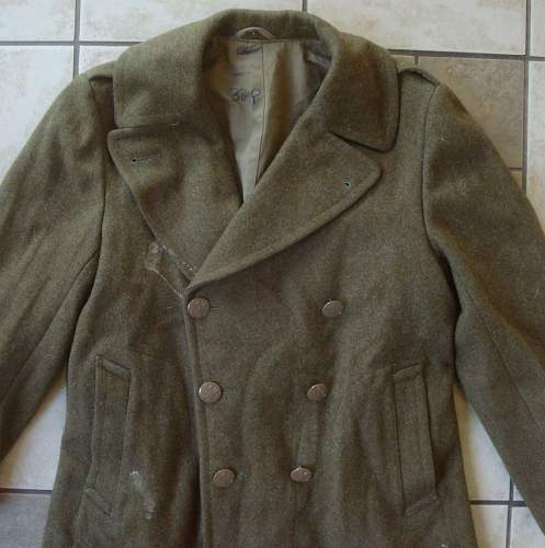 US Military Double Breasted Wool Coat. Help Identify Please.
