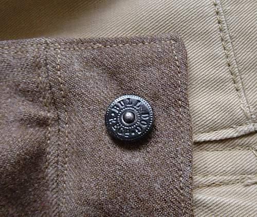 The 1937 pattern British Battledress trousers