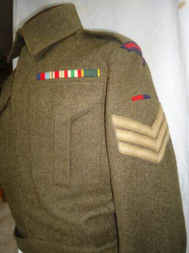 sometimes history is right under your nose ! RA battledress dated 1943