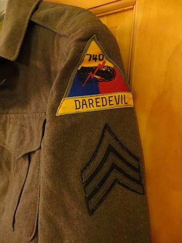US 740th Armored  Ike jacket