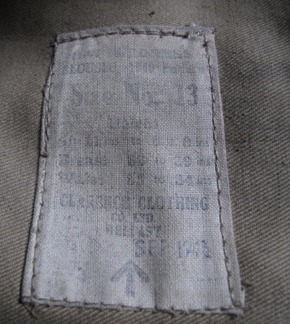 1940 Pattern BD blouse to a Grenadier Guard of the 1st Division, partly researched