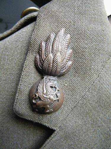 Royal Welsh Fusiliers officers SD tunic 1943 dated