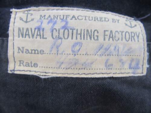 Named Navy blues for an Aviation Machinist's Mate 1C