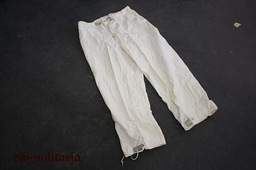 Dated US white camo trouser