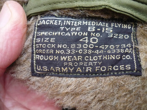 Advice about USAAF B-15 jacket