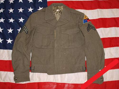 US 1st Armored Division Ike Jacket and wool shirt