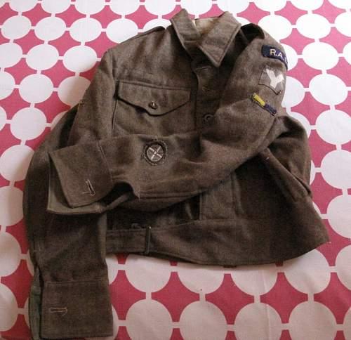 Late war 5th Division RASC driver BD blouse