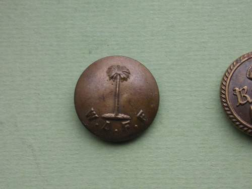 Royal West Africa Frontier Force RWAFF uniform buttons