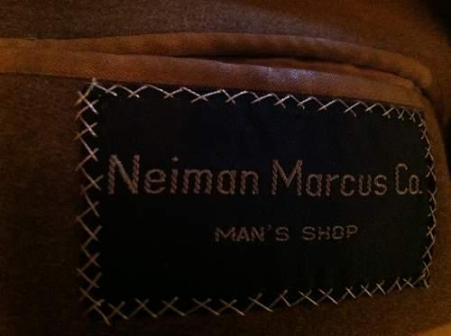U.S. Winter Overcoat by Neiman Marcus