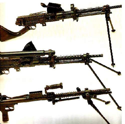 WW II Pacific Japanese machine gyns & Allied unifroms & weapons