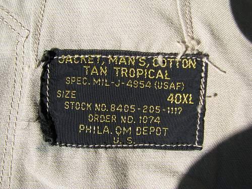 Dating a USAF jacket