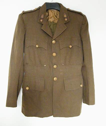 Royal Welch Fusiliers named SD tunic