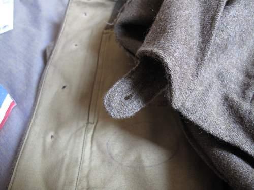 UNRRA Battle Dress blouse of a US veteran