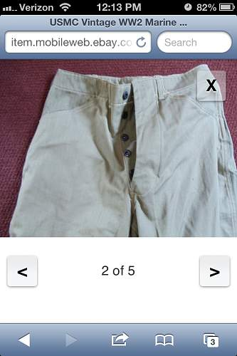 usmc ww2 p41 trousers with makers tag original ?