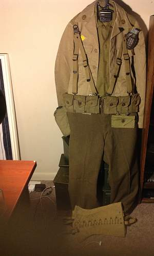 uniform with various pieces
