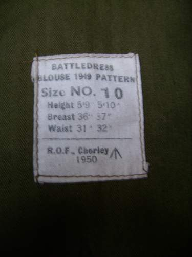 british battledress blouse