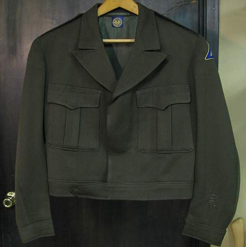 U.S. Army Captain's Ike Jacket - tailored in Mannheim (Summer 1945)