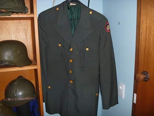 US 47th infantry dress tunic