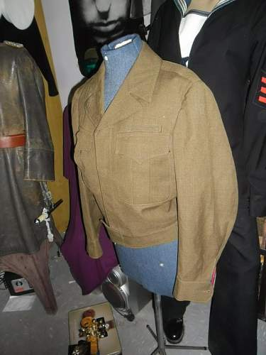 one of my latest pick up's a US IKE jacket  1944 pattern