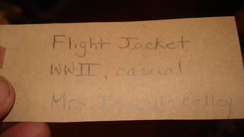 Females Ferry Pilot Leather Jacket,  Named