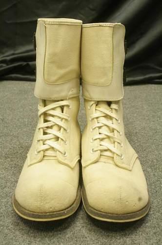 White Korean War double buckle boots?