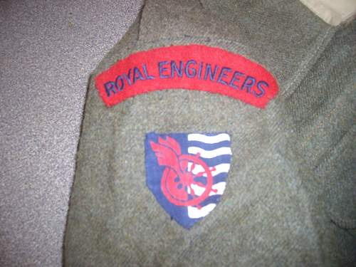 Royal Engineers Water Transport Corps Battledress