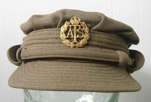 Husband and wife group: ATS service dress uniform and 1st pattern service dress cap