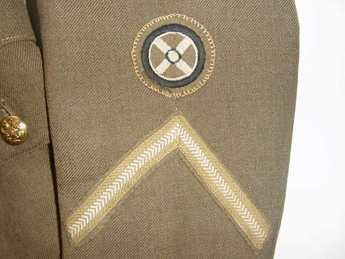 Husband and wife group: ATS service dress uniform and 1st pattern service dress cap