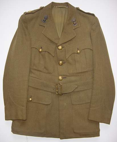 Royal Engineers service dress tunic & trousers (Named)