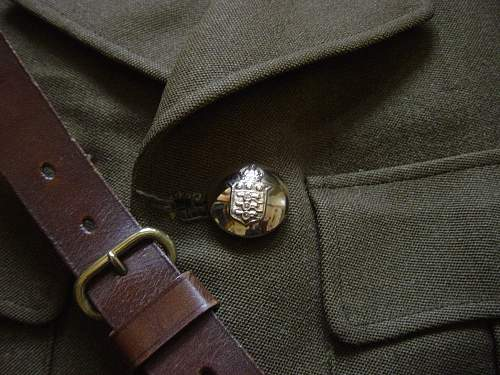 Royal Army Ordnance Corps uniform, Sam Brown belt & swagger stick. (Named)