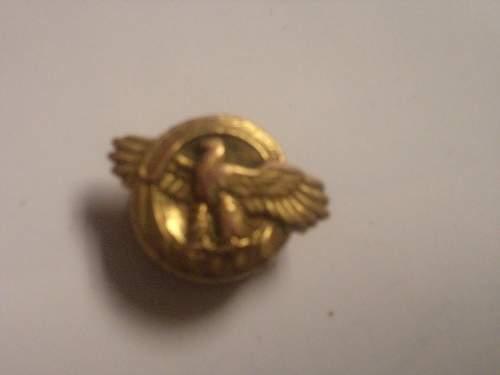 my ruptured duck lapel pin :)
