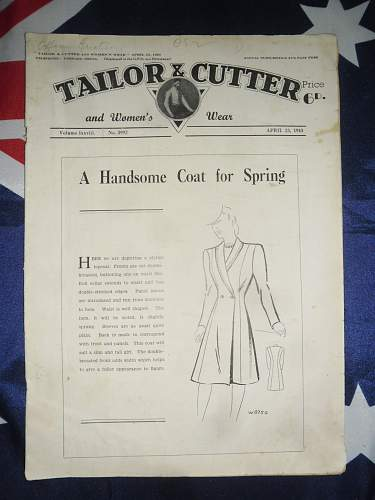 Tailor and cutter magazines 1939 - 1943 collection .