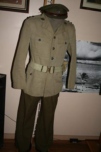 WWII AIF First Lieutenant's Uniform (KD Tunic)