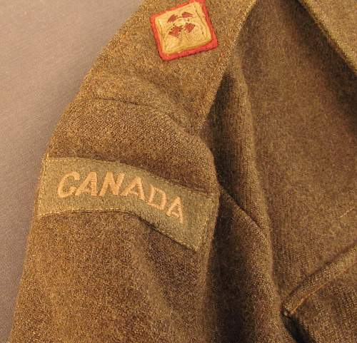 1943 Dated canadian battle dress