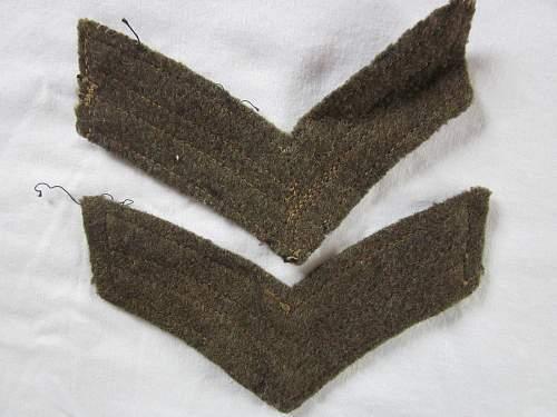 Corporal stripes... ww2?