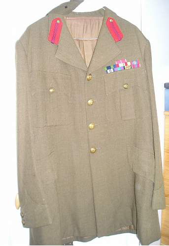 Ex RWF senior field officers tunic