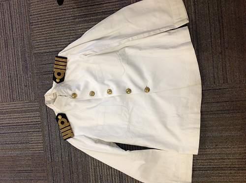 Royal Navy Captain's tropical jacket