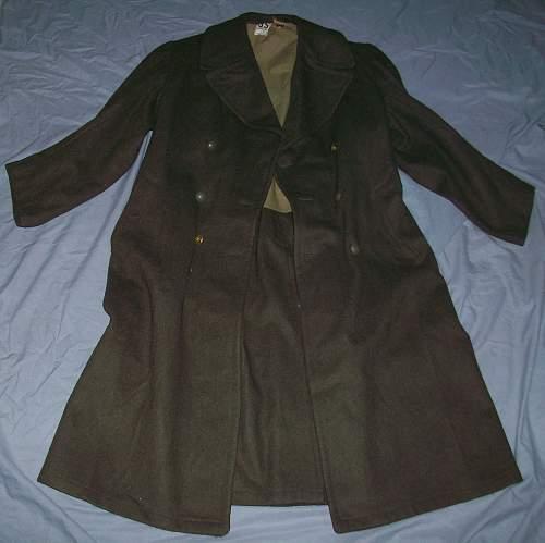 WWII French Belgium Overcoat