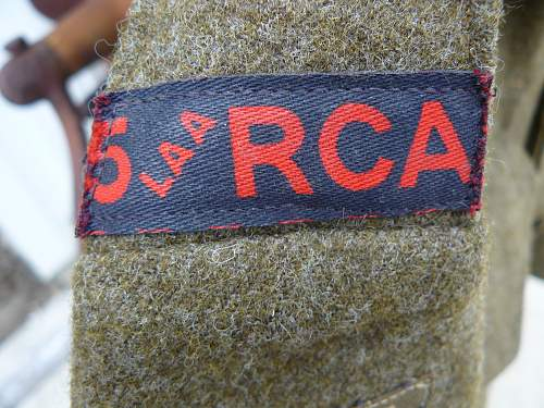 Canadian 1943 dated BD to the RCA 5th LAA