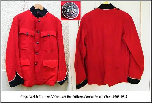 RWF scarlet frock c1900
