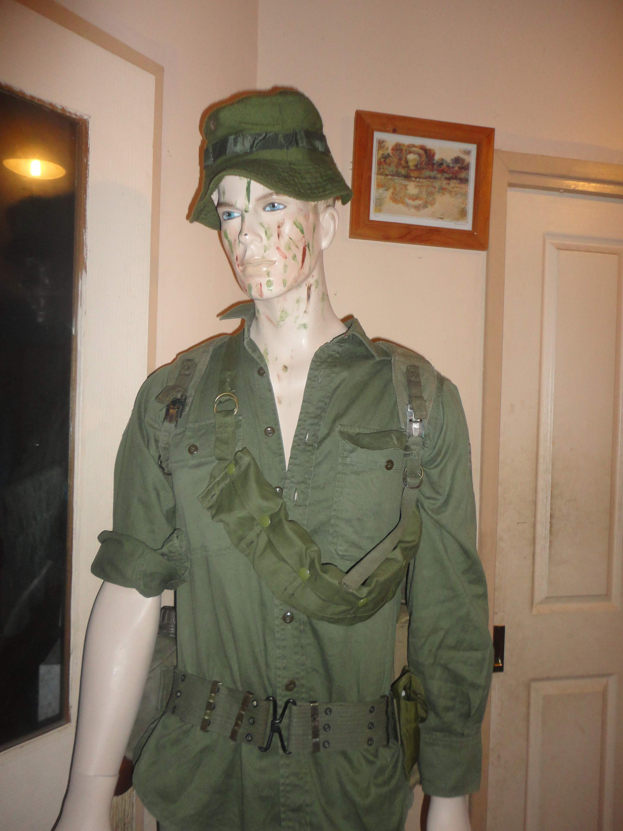 Vietnam War Australian soldier display