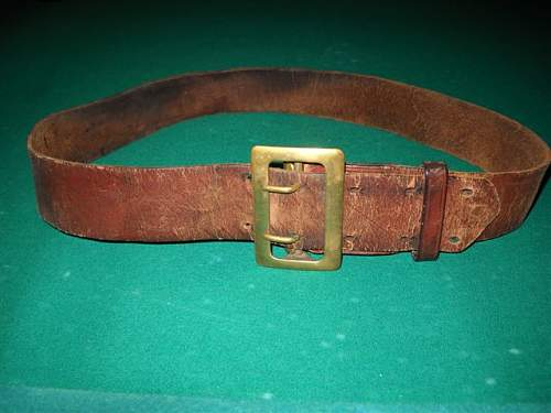 WWII Leather belt ?